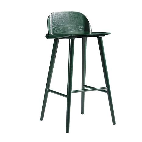 Peachy Amazon Com Bar Stool Chair Footstool Yellow Solid Wood Theyellowbook Wood Chair Design Ideas Theyellowbookinfo