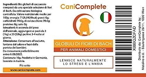CaniComplete Relajantes para Gatos, Perros, Mascotas Glóbulos de Flores de Bach - Tranquilizante Natural para El Miedo y el Estrés