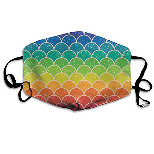 Unisex Rainbow Glitter Scales Warm Fashion Washable Mouth Mask, Anti-dust Face Mask for Men and -