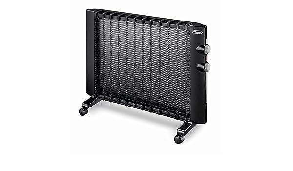 DeLonghi HMP 1500 Calentador de ambiente, Eléctrico, Giratorio, Montaje de pared, 2 niveles de potencia, 1500 W, negro: Amazon.es: Hogar