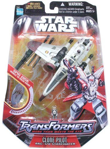 Hasbro Star Wars Transformers - Clone Pilot and Arc 170 Star Pilot (Wars 170 Star Arc Clone)
