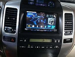 DKMUS Double Din Radio Stereo Installation Panel for 2002-2009 Toyota Land Cruiser Prado 120 Lexus Gx470 Dash Trim Kit Fascia Fits 2 Sizes178x102mm and 173x98mm