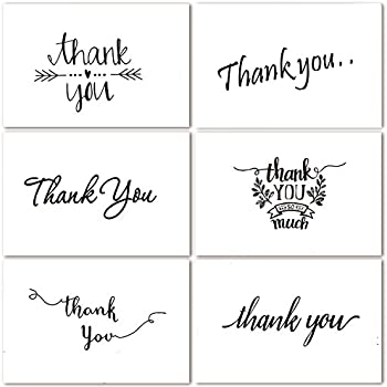 Amazoncom Thank You Note Cards Postcards With Funny Decor Stickers