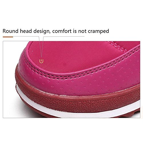 XIE Femmes Dans les bottes tubulaires Glissière latérale Glissière imperméable Chaussure en coton Velcro Garder au chaud Bottes antidérapantes Alpinisme à pied Tourisme pink xgIrmbVqM
