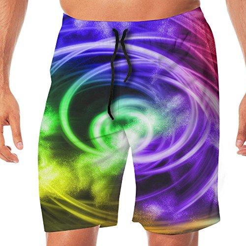 Swirl Jammer - Men's Shorts Trunk Summer Pockets Rainbow Swirls Swim Beach Athletic