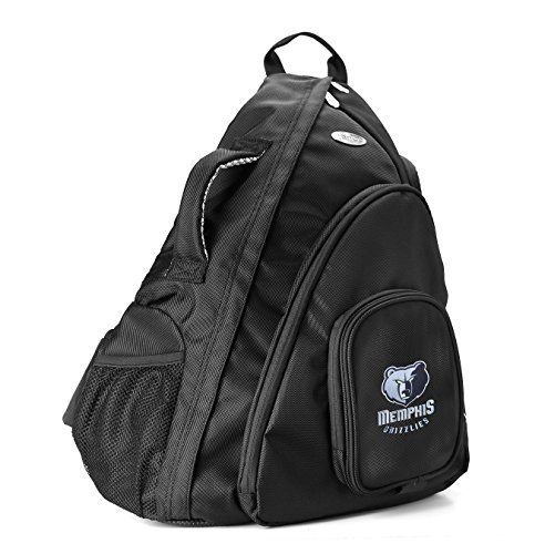 NBA Memphis Grizzlies Travel Sling Backpack, 19-Inch, Black