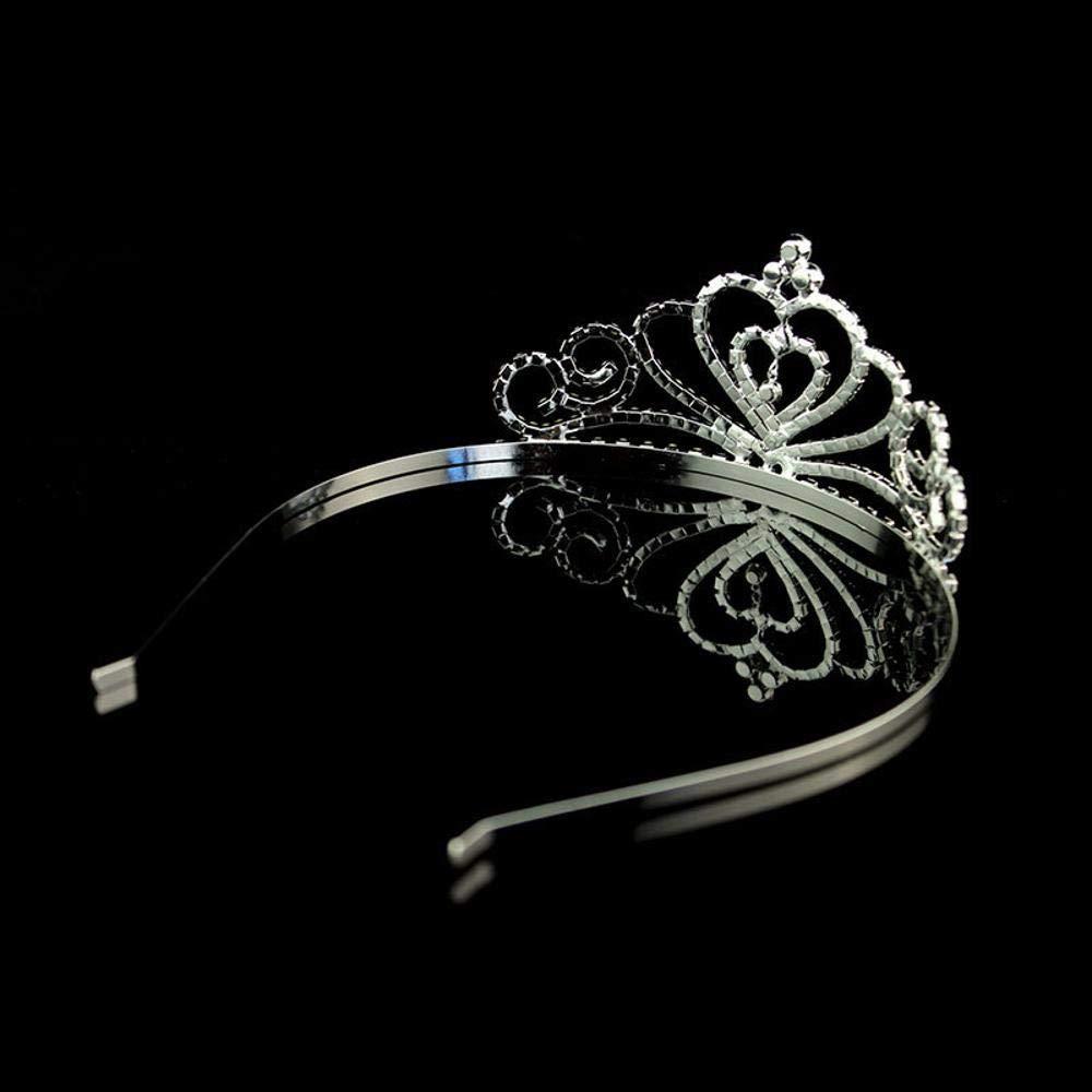 Amazon.com: QJXSAN Headwear Nupcial Princess Crown Headdress Accesorios de taladro de agua Joyería para niños Diadema Rhinestone Heart Crown: Garden & ...