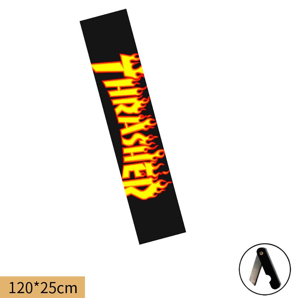 110x25cm 39 colori Nero Scooter nastro della presa ,19 Longboard Griptape Skateboard nastro della presa Sheet 47x9.8 pollici Carta vetrata per Rollerboard Skateboard Griptape