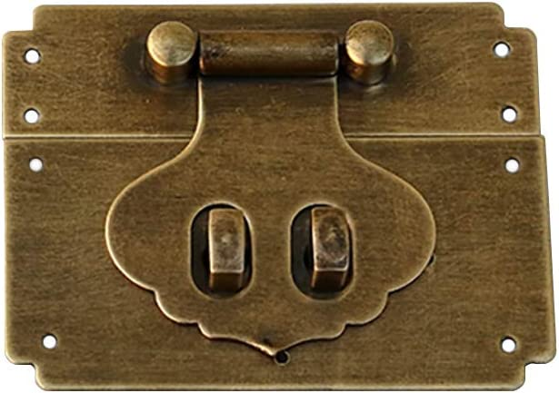 Tiazza Antique Brass Small Cabinet Box Latch Buckle Catch Clasp Case Lock Hinges Furniture Hardware Accessories Square Hasp
