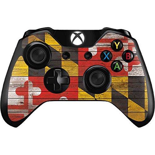 Countries of the World Xbox One Controller Skin - Maryland Flag Dark Wood Vinyl Decal Skin For Your Xbox One Controller