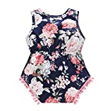 Baywell Baby Girl Romper Outfit Set, Sleeveless