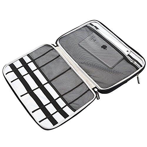 iCozzier 15-15.6 Inch Diamond Foam Handle Laptop Sleeve Shock Resistant ElectronicsAccessories Storage/Stylish Travel Organizer for Laptop/Ultrabook/ Notebook/Netbook/ MacBook - Black by iCozzier (Image #5)