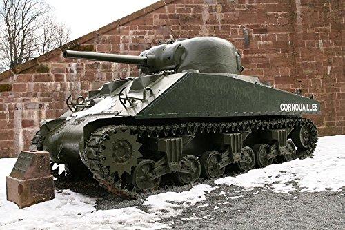LAMINATED 36x24 inches Poster: Panzer Tank Vehicle Sherman M
