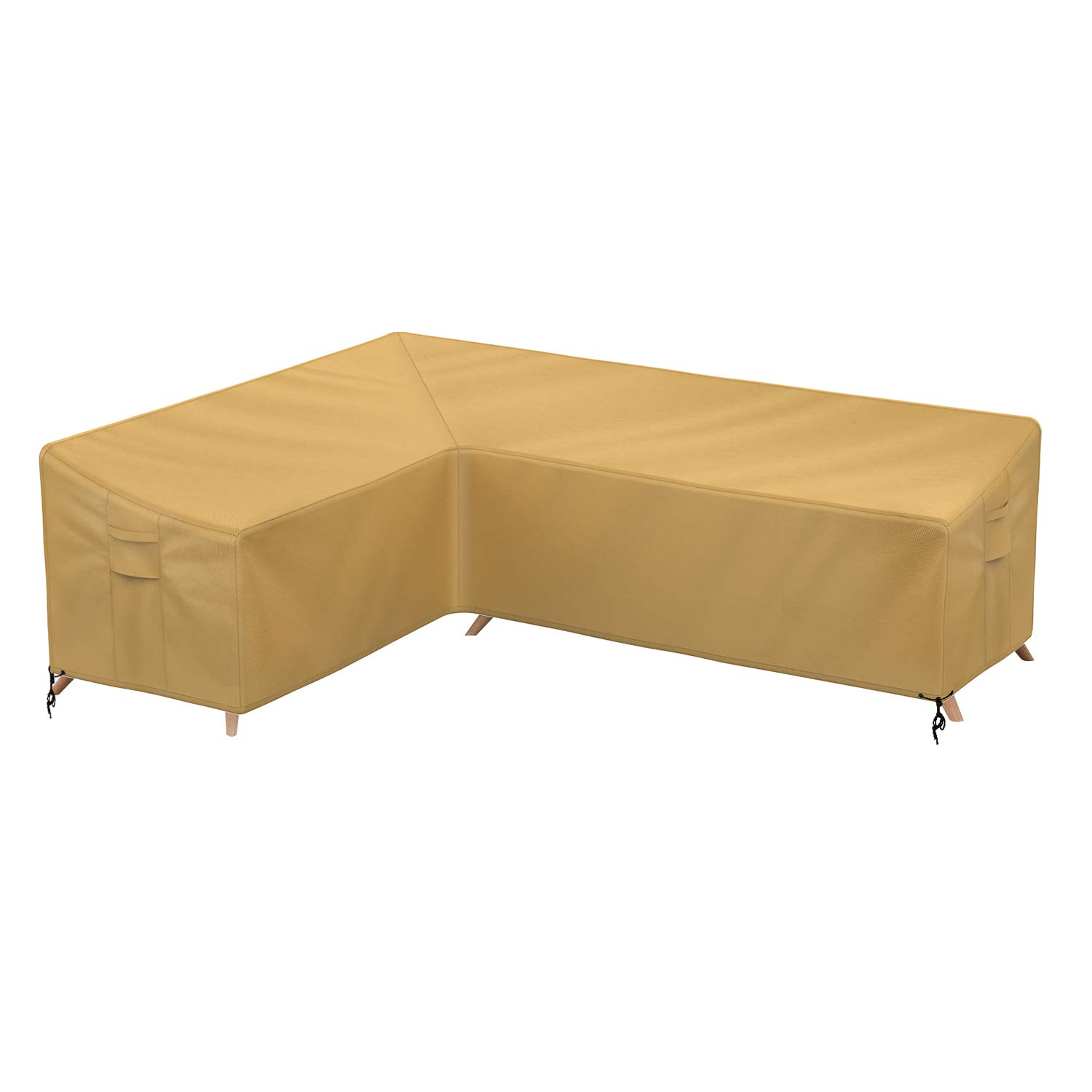 Sunkorto Patio L-Shaped Sectional Sofa Cover, Left Facing Furniture Cover Garden Couch Cover Waterproof Wear-Resistant for Outdoor