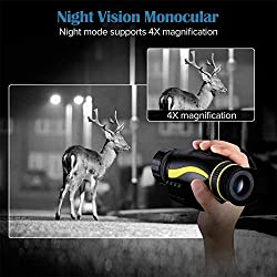 T-Eagle Night Vision Monocular 4X35 Night Vision Infrared IR Camera HD Digital Night Vision Scopes?W/1080p HD Video Recording & Photos and TF Card for Hunting Security Surveilla