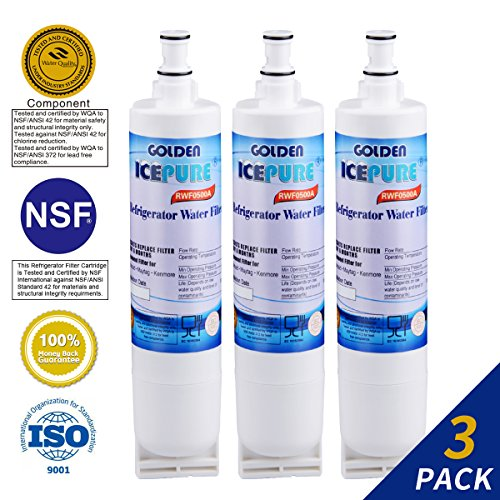 Golden Icepure 4396508 Refrigerator Water Filter Replacement for Whirlpool 4396508, 4396510, Kenmore 46-9010 (Pur Water Filter Kenmore Refrigerator)