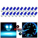 01 jetta center console - CCIYU 20x Ice Blue T10 W5W 194 5050SMD Side Wedge LED Light Lamps for Dashboard Instrument Panel Light Fit 2003-2005 Ford E150 Club Wagon E350 Club Wagon