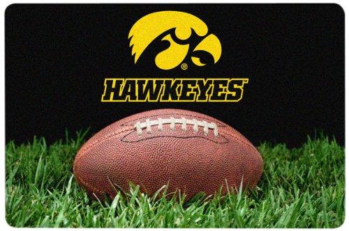 NCAA Iowa Hawkeyes Classic Football Pet Bowl Mat, Large