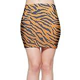 Tiger Print Animal Print Cool Women's Slim Mini Pencil Skirt Bodycon Skirt Above Knee XL