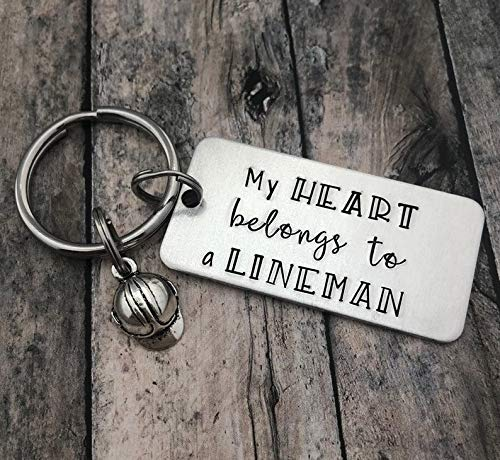 cutom keychain gift for lineman wife lineman gifts My heart belongs to a lineman