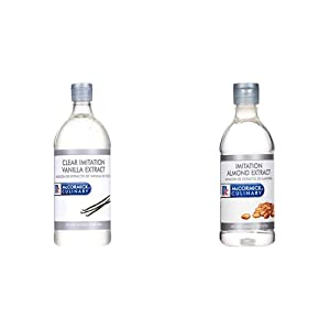 McCormick Culinary Clear Imitation Vanilla Extract, 32 fl oz & Imitation Almond Extract, 16 fl oz