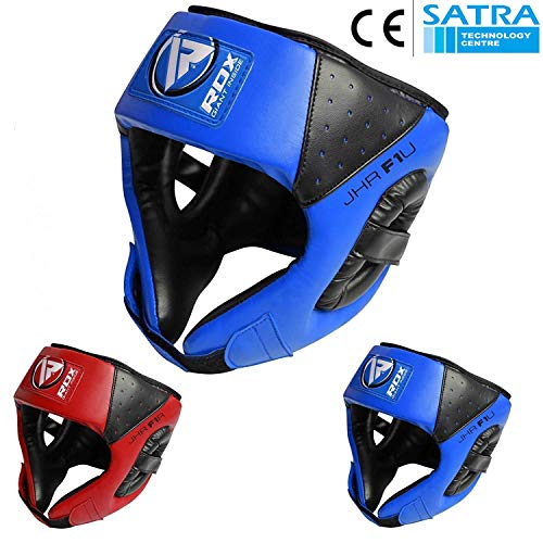 RDX Maya Hide Leather Kids Boxing MMA Headgear Junior Head Guard Children Youth Helmet (Best Head Guard Boxing)