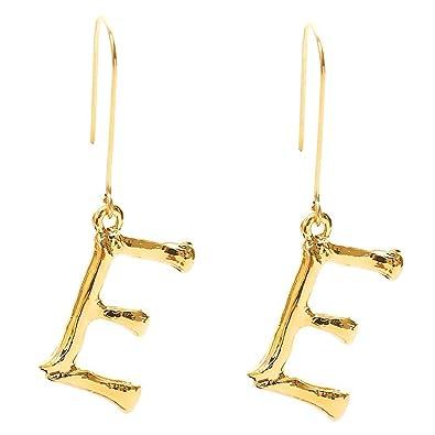 Pendientes de gancho con letra del alfabeto de la A a la Z para ...