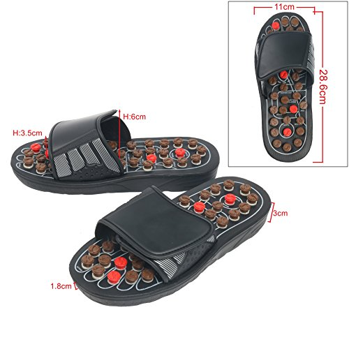 YaeKoo Foot Slippers Healthy Sandals Shoes Reflex Massage Slippers Acupuncture Shoe Foot Massager for Man (8.5-9.5)/Women (10-11)