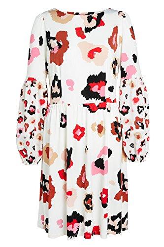 Abstraktem Ecru Damen Animal – next mit Print Kleid Tall HBPZqnnt