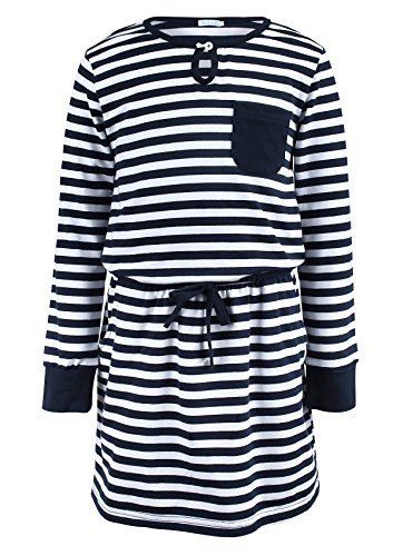 navy and blue striped dress - 7