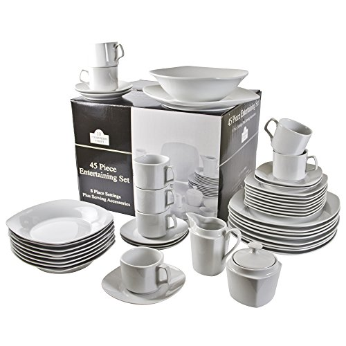 10 Strawberry Street 45-Piece Square Din - Dinnerware Set Dishes Shopping Results