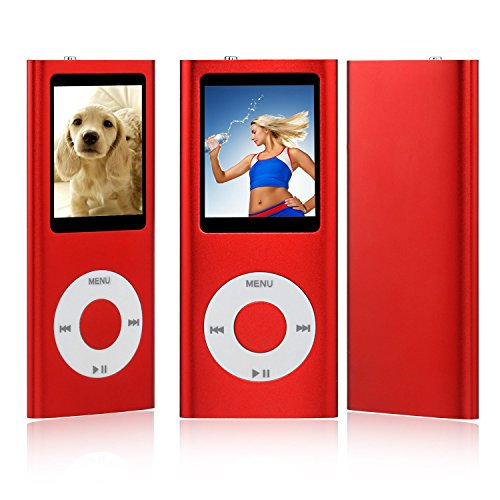 Es Traders New 8Gb Red 4Th Generation Mp3 Music Media Player Radio Video Fm 1 8  Does Not Support Itunes  Red
