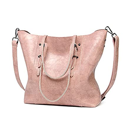 dd557eac39f Amazon.com   2018 Hot Luxury Brand Women Shoulder Bags Big Bucket Bag Soft Pu  Leather Female Casual Tote Wild Messenger Bag Casual Ladies Handbag (Color  ...