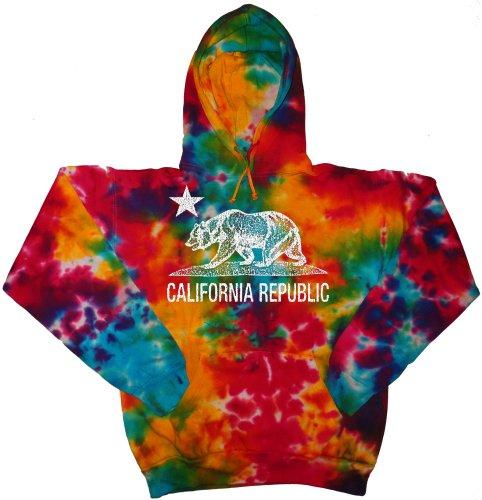 (Tie Dye Hoodie California bear medium)