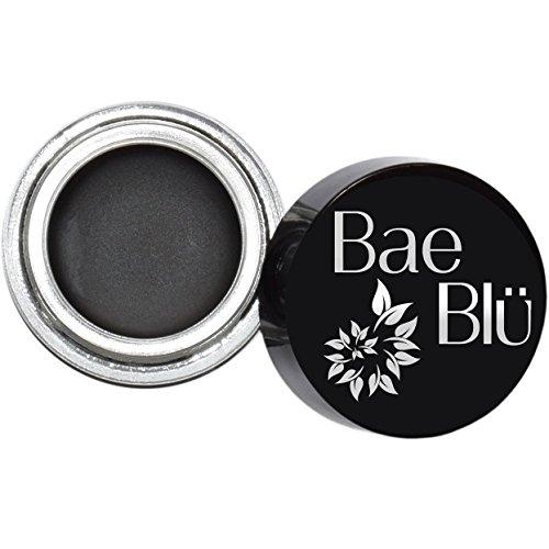 BEST Organic 100% Natural Vegan Black Gel Liner Eyeliner Smudge Pot, Made in USA by - With Glasses Winged Eyeliner