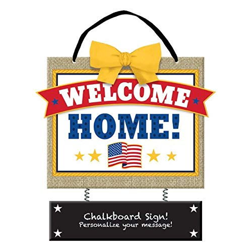Amscan 241729 Welcome Home Deluxe - Cartel para colgar, 14 1/4 x 12 1/3 pulgadas, multicolor
