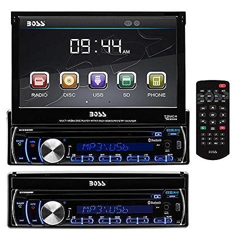 BOSS Audio BV9986BI Single Din, Touchscreen, Bluetooth, DVD/CD/MP3/USB/SD AM/FM Car Stereo, 7 Inch Digital LCD Monitor, Detachable Front Panel, Wireless Remote, Multi-Color (Car Audio / Video Accessories)
