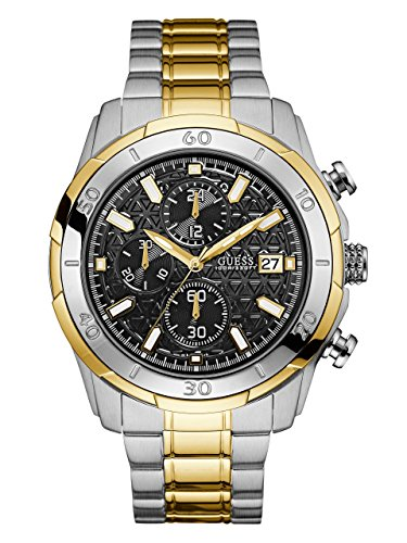 GUESS-Mens-Quartz-Stainless-Steel-Casual-Watch-ColorTwo-Tone-Model-U0746G3