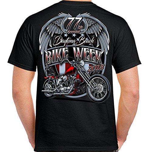 Biker Life USA 2018 Bike Week Daytona Beach Patriot T-Shirt (Daytona Bike Week 2018)