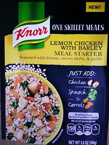 Knorr One Skillet Meal Lemon Chicken With Barley Meal Starter 1-Package NET WT 5.8 OZ
