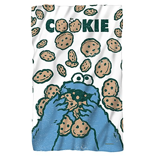 Cookie Crumble -- Sesame Street -- Fleece Throw Blanket (36