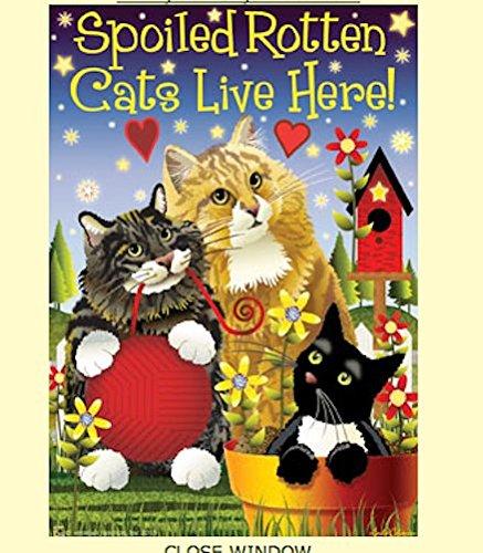 Spoiled Rotten Cats Garden - Cat Flag