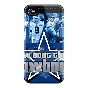 Scratch Protection Hard Cell-phone Case For Iphone 4/4s (Bsz23531OGCW) Support Personal Customs Fashion Dallas Cowboys Series