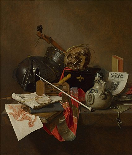 Oil Painting 'Jan Jansz. Treck Vanitas Still Life', 16 x 19 inch / 41 x 48 cm , on High Definition HD canvas prints is for Gifts And Game Room, Garage And Nursery Decoration, decor