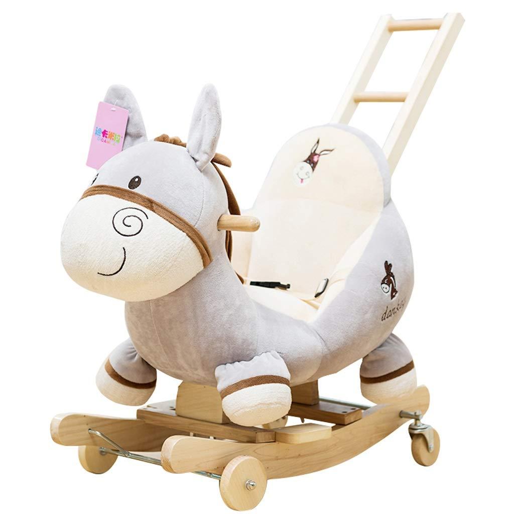 ロッキング 馬 ライティング 木製 ロッキング 椅子 赤ちゃん おもちゃ スモール トロイアン 子供 2回使用 ロッキング クレードル 赤ちゃん 誕生日 ギフト   B07L2QT368