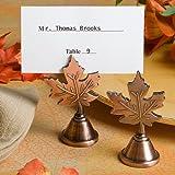 Autumn leaf design placecard holder favors