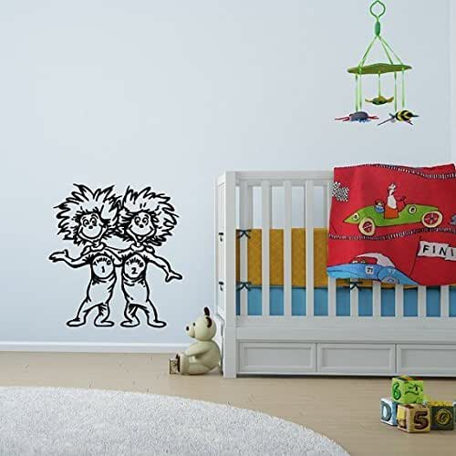 Dr Seuss Characters Wall Decals Thing 1 Thing 2 From The Cat In The Hat Childrens