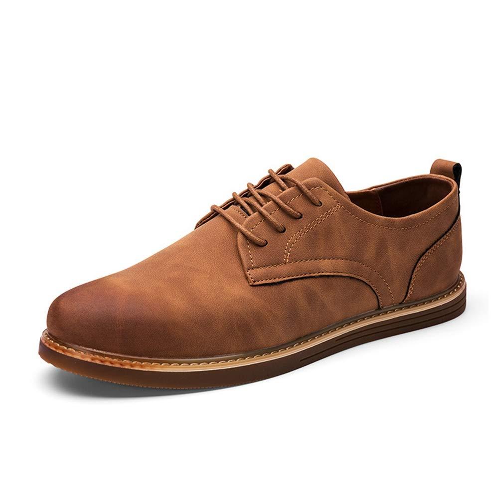 Feidaeu Herren Oxford Schuhe Frühling Herbst Mode Bequeme runde Spitze Flache Spitzenturnschuhe