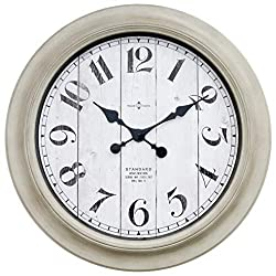 Better Home & Gardens Oversized Wall Clock, 28 Inch Whitewashed Modern Farmhouse