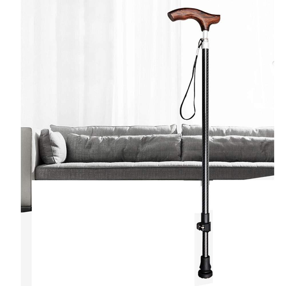 WPQW 松葉杖軽量伸縮式スティック無垢材滑り止め無制限群衆松葉杖炭素繊維拉致 -811松葉杖 (色 : Male)  Male B07QXRK8QR